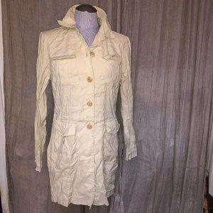 Banana Republic vintage khaki linen duster jacket